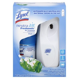 Lysol Neutra Air Freshmatic Automatic Spray Air Freshener Starter Kit, Fresh, 1 Count