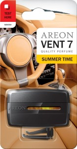 Areon Vent 7 Car Perfume Vent Clip AC and Fan Air Freshener, Summer Time Scent