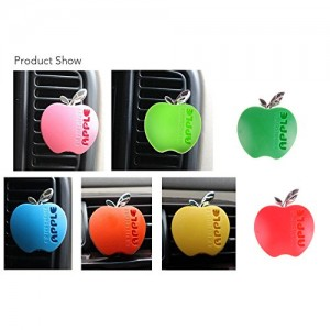 Car apple shape strawberry fragrance perfume air Freshener air cleaner balm Decor Pink