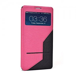 Galaxy Note 4 Case, Flip CaseCover with Stand - SLIDE SERIES - By Cush Cases [Features transparent window to view alerts and PATENTE