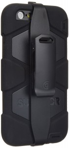 Griffin BlackBlack Survivor All-Terrain Case + Belt Clip for iPhone 66s Plus