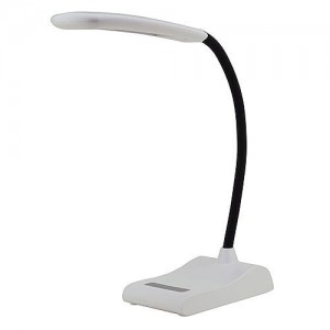 MarsLG 5-Level Dimmable Touch Switch Flex Neck LED Desk Lamp 6 Watt, 2407WH