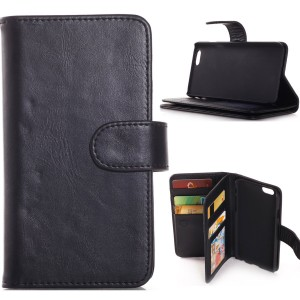 iPhone 6 Plus Case,Adela Shop Premium Leather Folio Wallet Function Flip Book Style,15 Card Slots,Cash Compartment Pocket with Magnetic Closure