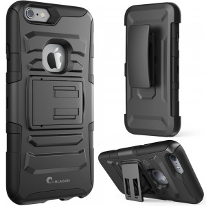 iPhone 6s Plus Case ,i-Blason Prime [Kickstand] Apple iPhone 6 Plus Case (5.5) [Heavy Duty] [Dual Layer] Combo Holster Cover [Belt Clip] (Black)