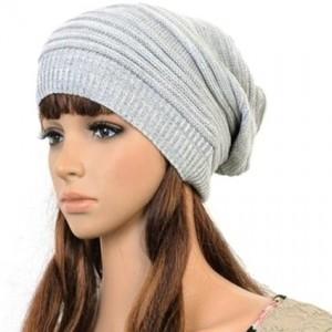 Fashion Women Knit Snow Hat Winter Snowboarding Beanie Crochet Cap Hats (2)