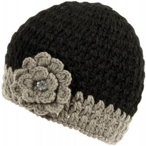 Nirvanna Designs CH75 Crochet Flower Beanie