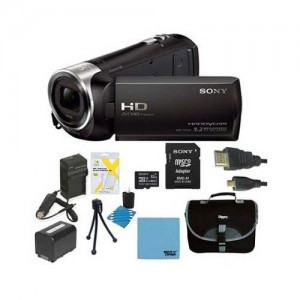 Sony HD Video Recording HDRCX405 Handycam Camcorder - Black Ultimate Bundle with 32GB High Speed Micro SD Card, Spare Battery