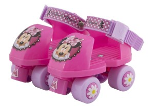 Disney Minnie kids' Roller skate with knee pads, junior size 6-12