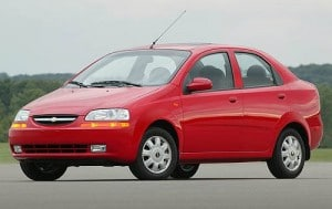Top 10 Cheapest Used Cars Under $5000 In 2015-Chevrolet Aveo