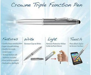 Crowne Tri Function Pen