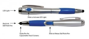 SE Stylus Pen with LED Flashlight