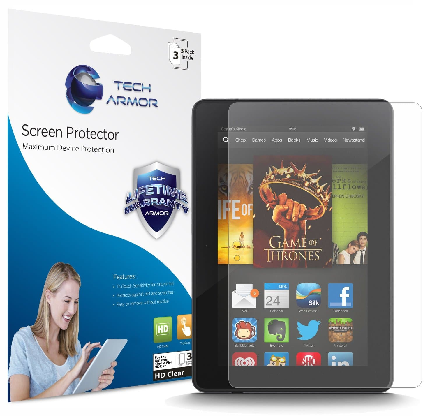 Top 10 Best Kindle Fire HDX Screen Protectors 2020 Review