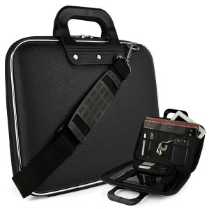 #5. Cady Messenger Cube – JET BLACK Ultra Durable Tactical Leather -ette Bag Case
