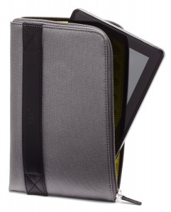 #8. Amazon Kindle Fire Zip Sleeve, Charcoal