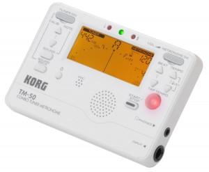 #9. Korg TM50PW Instrument Tuner and Metronome