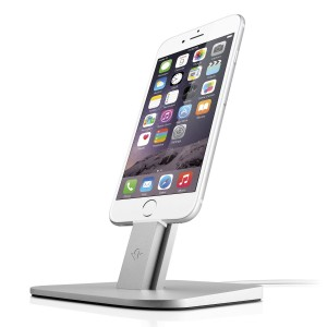 12 South Hi Rise for, Ipad, tablet and iPhone silver. Needs Apple Lightning cable
