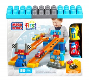 Mega Bloks First Builders Tracks Racew