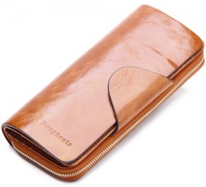 Borgasets Women's Large Wallet
