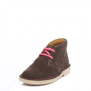 Clarks Junior Grey Desert Boy Boot