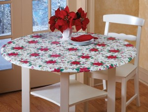 Fitted Elastic Holiday Table Cover