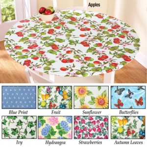 Fitted Elastic Table Cover with Strawberries Design