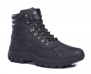 Kingshow Mens M0705 Waterproof Leather Winter Boot