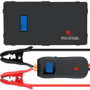 1byone New Release - The World's First Smart Portable Car Jump Starter - Start Your Car Countless Times !!! 9000mAh 12V Multi-Function with Built in Ultr