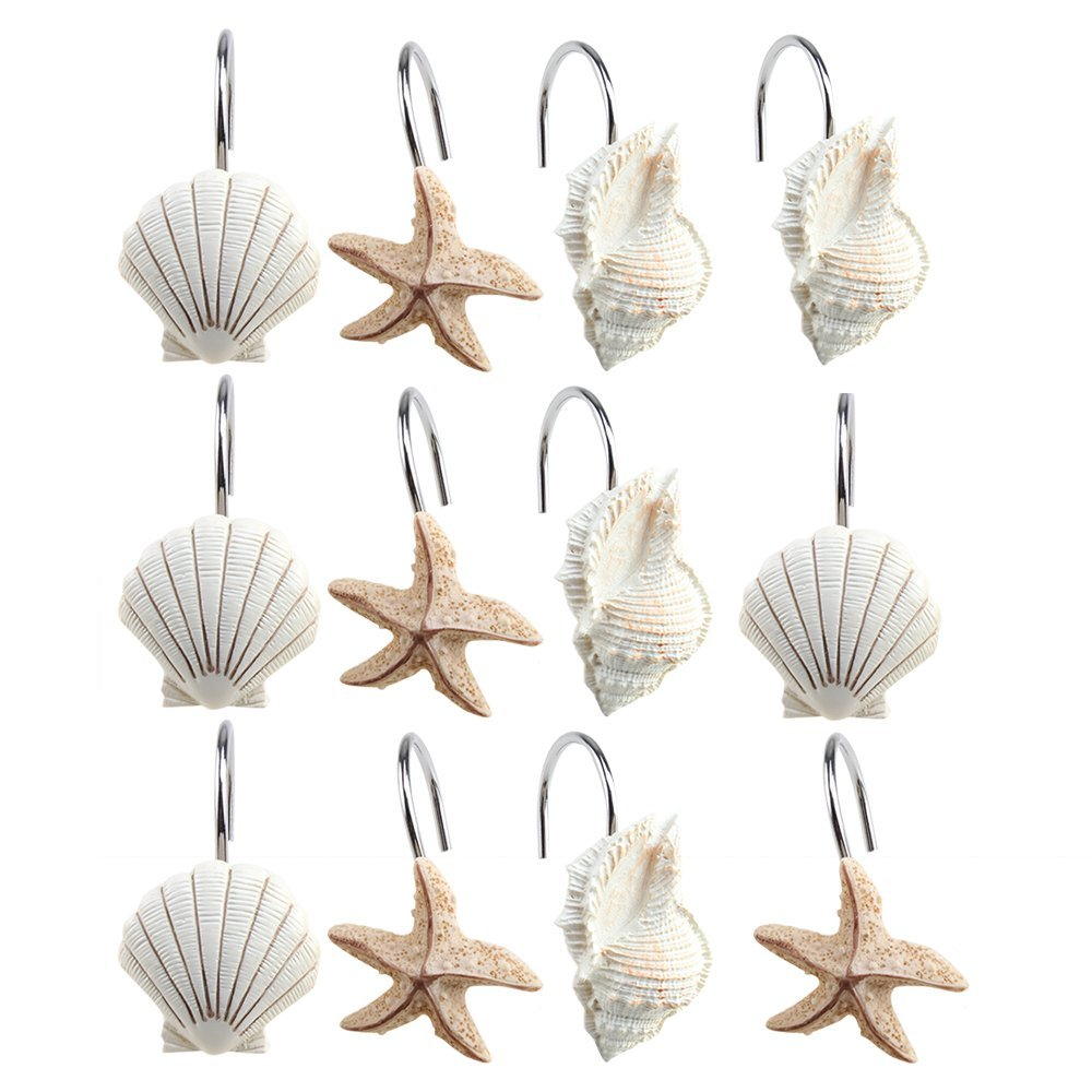 Top 10 Best Shower Curtain Decorative Hooks For Bathroom In 2018 ...