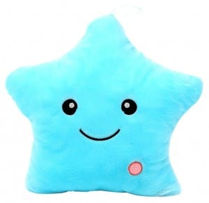 Allurelove 4035 CM Stuffed Dolls LED Stars Light Colorful Pillows Popular Plush Toys (Blue)