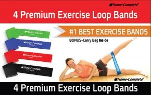 Best Exercise Resistance Loop Bands-Set of 4 Strength Performance Bands-Great for Physical Therapy-Fitness Theraband Stretch-Elastic Power Weight Band