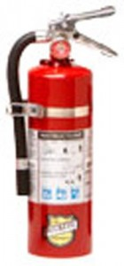 Buckeye 25614 ABC Multipurpose Dry Chemical Hand Held Fire Extinguisher with Aluminum Valve and Vehicle Bracket, 5 lbs Agent Capacity, 4-14 Diameter
