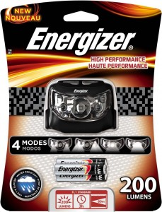 Energizer High Performance LED Headlamp with Batteries Included, GreyBlack
