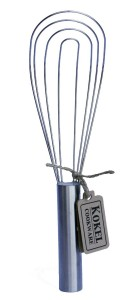Flat Whisk by Kokel Cookware - Stainless Steel Wire Whisk - Best Cooking Whisk or Cooking Tool