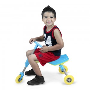 Fly Bike® Foldable IndoorOutdoor Toddlers Glide Tricycle - Blue