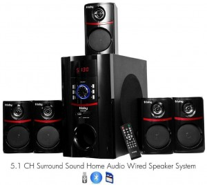 Frisby FS-5010BT 5.1 Surround Sound Home Theater Speakers System with Bluetooth USBSD and Remote
