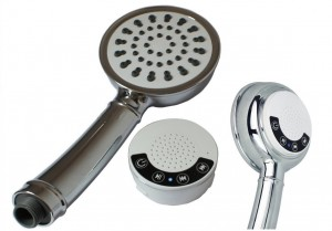 GTV G-BMS-3H Handheld Music Shower Head with Wireless Bluetooth Speaker, Hose and Mounting Bracket