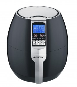 GoWISE USA 8-in-1 Electric Air Fryer with Digital Programmable Cooking Settings 3.2 QT Black