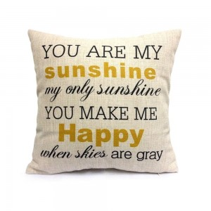 HOSL® Decorative Inspirational Quotes Pillow Cover Personalized Custom Cotton Linen Pillowcase