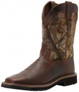 Justin Original Work Boots Men's Stampede Camo Waterproof Work Boot