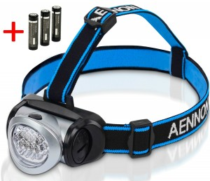 LED Headlamp Flashlight for Camping, Running, Hiking, Reading, Kids, DIY & More! Ultra-Bright Headlight w FREE Batteries Is Lightweight & Comfortable - Makes