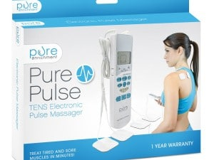 PurePulse Electronic Pulse Massager - Portable, Handheld TENS Unit Muscle Stimulator for Pain Management - Treats Tired and Sore Muscles in