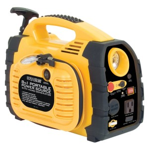 Rally 7471 Portable 8 in 1 Power Source and Jumpstart Unit with Hand Generator