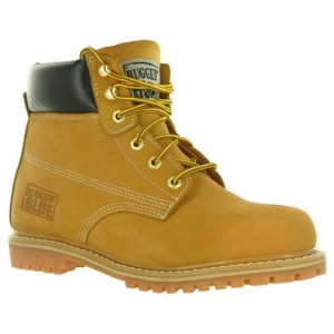 Rugged Blue Steel Toe Waterproof Mens Work Boots - Tan