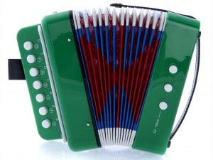 SKY Accordion Green Color 7 Button 2 Bass Kid Music Instrument High Quality Easy to Play