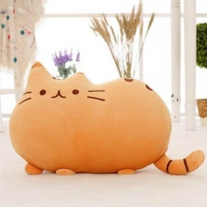 Soft Cute Big Cat Shaped Pillow Cushion Sofa Decoration Stuffed Toys Doll Home Decor Orange
