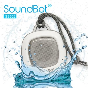 SoundBot SB522 FM RADIO HD Bluetooth Wireless Water Weather Resistant Shower Speaker Portable High Performance 3W 40mm Premium Driver Ha