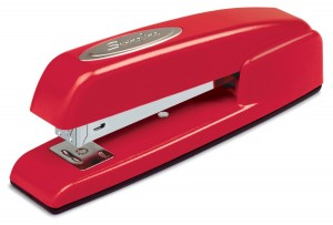 Swingline Stapler, 747, Business, Manual, Desktop, 20 Sheet Capacity, Rio Red (74736)