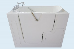 52 x 32 Soaker Wheel Chair Accessible Walk-in Tub Configuration Left