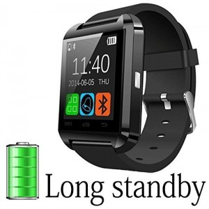 A8 POWER U8 Bluetooth Watch Smart Wristwatch Phone Mate for Smartphones IOS Apple Iphone Android Samsung S2s3s4s5note 2note 3 HTC (Black)