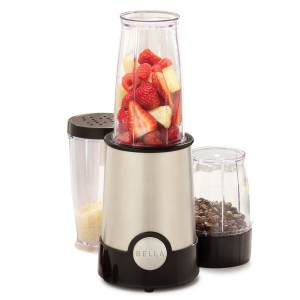 BELLA 13586 12-Piece Rocket Blender, Stainless Steel and Black